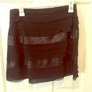 Black Mini skirt with Sequins
